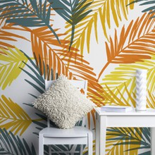 Retro palm leaves 2 a
