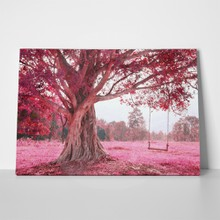Fantastic swing on tree pink 124230778 a