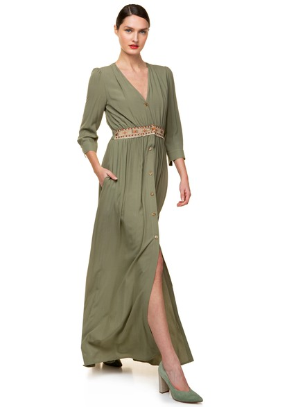 Semizie maxi dress with front pockets