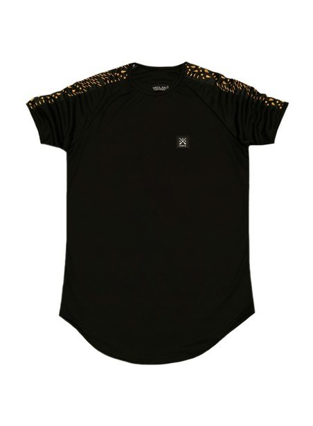 VINYL ART CLOTHING BLACK T-SHIRT WITH DOTS DETAILS