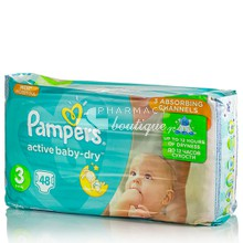 Pampers No.3 (5-9 kg) - Active Baby Dry, 48τμχ