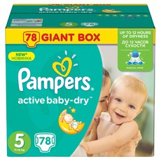 Pampers Active Baby Giant Pack No5 11-16Kg 78Τμχ.