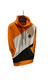 Hoodie with asymetric colour blocking