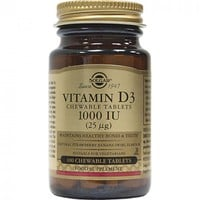 SOLGAR VITAMIN D-3 1000IU 100CHEW. TABL (STRAWBERRY-BANANA)