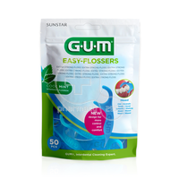 GUM - Easy-Flossers (cool mint) - 50τεμ.