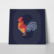 Rooster pixel icon 1013946394 a