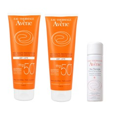 Avene Πακέτο Lait Lotion SPF50+ Αντηλιακό, 2x250ml + Δώρο Avene Eau Thermale Spring Water 50ml