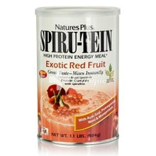 Natures Plus Spiru-Tein Exotic Red Fruit - Εξωτικά Κόκκινα Φρούτα, 504gr
