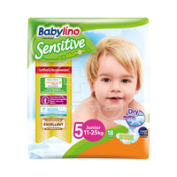 BABYLINO - Babylino Sensitive Junior No5 (11-25 Kg) - 18 πάνες