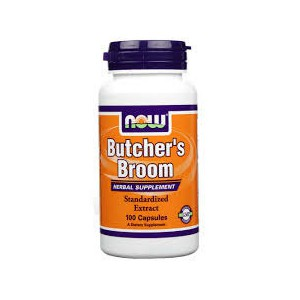 Now foods butcher s broom 100 caps