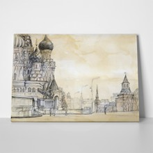 Cathedral in moscow drawing 35972950 a