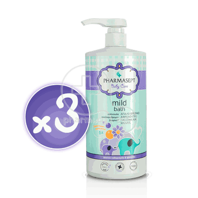 PHARMASEPT - PROMO PACK 3 TEMAXIA BABY CARE Mild Bath 2in1 - 1000ml