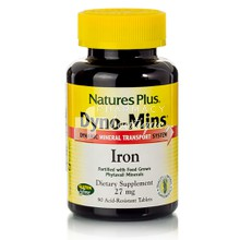 Nature's Plus Dyno-Mins IRON 27mg - Σίδηρος, 90 tabs
