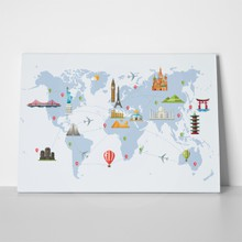 Famous landmarks world map 263688641 a