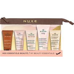 Nuxe My Beauty Essentials Travel Set: Reve De Miel Face Cleansing, 15ml + Hand Nail Cream, 15ml + Creme Prodigieuse Boost Gel Cream, 15ml + Body Shower Gel, 30ml + Prodigieux Body Lotion, 15ml