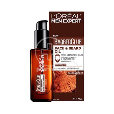 L'OREAL PARIS - MEN EXPERT BARBER CLUB Face & Beard Oil - 30ml