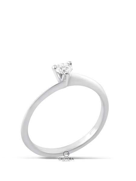 Μονόπετρο Δαχτυλίδι Λευκόχρυσο Κ18 με Διαμάντι 0 592095cb82c