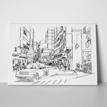 Modern cityscape digital sketch 258459197 a