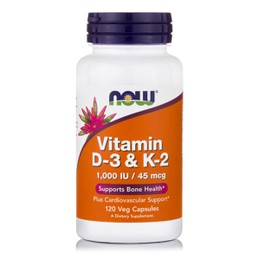 Now Foods Vitamin D-3 & K-2 1000iu 120caps