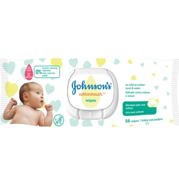 JOHNSONS BABY COTTON TOUCH WIPES 56 (SINGLE)