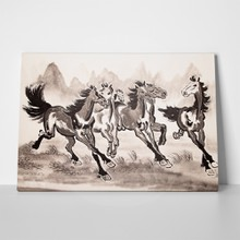 Chinese ink horse drawing 411648127 a