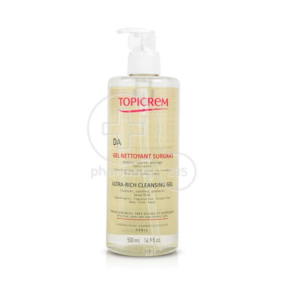 TOPICREM - DA Ultra Rich Cleansing Gel - 500ml