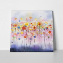 Abstract dandelion colorful paintings flowers soft 284911508 a