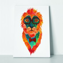 Hipster poly lion 164707943 a