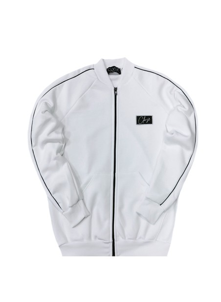 CLVSE SOCIETY WHITE COLLEGE JACKET