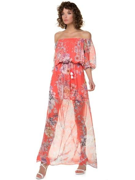 038c3c6d221e Off shoulder φλοράλ φόρεμα