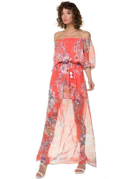 c7de41893a81 Off shoulder φλοράλ φόρεμα