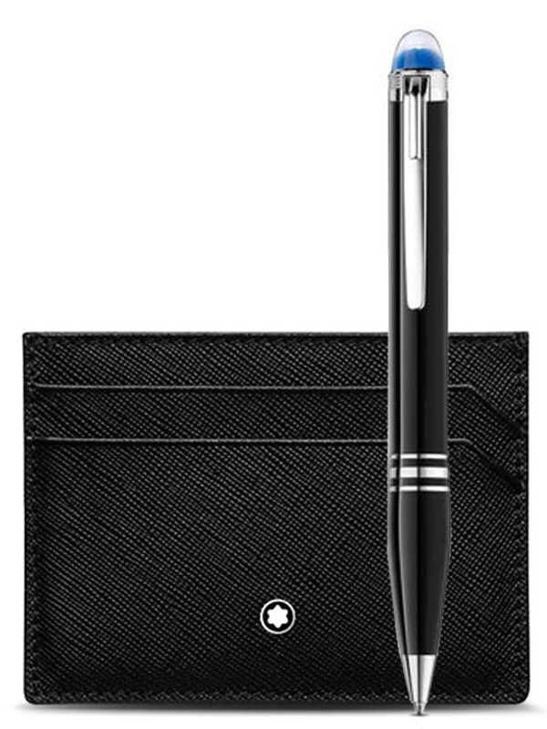 Gift Set with StarWalker Resin Ballpoint and Montblanc Sartorial pocket holder 5cc