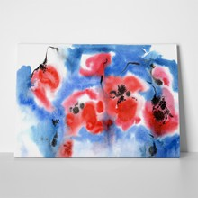 Watercolor poppies in blue 188491715 a