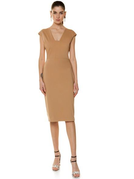 Εφαρμοστό βαμβακερό φόρεμα με ιδιαίτερο ντεκολτέ 6d8cf00a83b