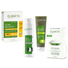 Elancyl Slim Design Night 200ml & Slim Massage Συσκευή Μασάζ + Slimming Concentrate Gel 200ml & Energizing Foaming Scrub 150ml & Slim Design Gellule Minceur 60Caps.