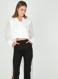 Loose shirt with wrap back