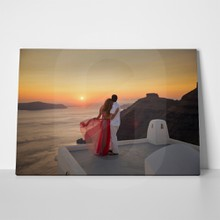 Loving couple in santorini 421469890 a