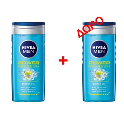 NIVEA - POWER REFRESH Shower Gel - 500ml - 1+1 δώρο