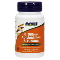 NOW 8 BILLION ACIDOPHILUS & BIFIDUS, 60 VEG. CAPS