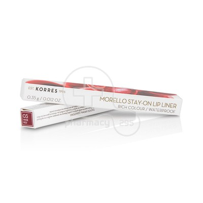 KORRES - MORELLO Stay-on Lip Liner No03 Wine Red - 0,35gr