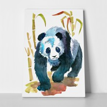 Panda painting with bamboos 636607447 a
