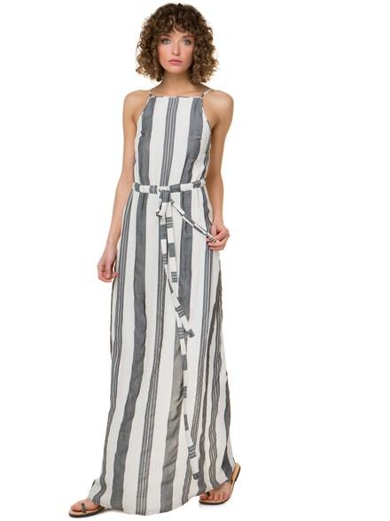 fcfb852124b2 Ριγέ maxi φόρεμα με κορδέλα