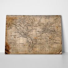Ancient parchment world map 12692461 a