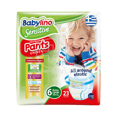 BABYLINO - SENSITIVE Pants Unisex Extra Large No6 (15+kg) - 23τεμ.
