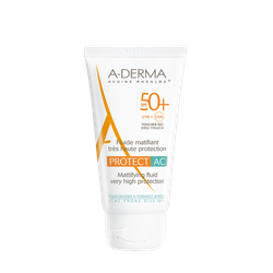 A-Derma Protect AC Fluide Matifiant - Tres Haute Protection SPF50+ 40ml