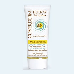 Coverderm Filteray Face Plus SPF50 Oily/Acneic Αντηλιακή Κρέμα Προσώπου & After Sun (2σε1) για Λιπαρές/Ακνεϊκές Επιδερμίδες, Για 3 τύπους ηλιακής ακτινοβολίας, UVA, UVB και IR, 50ml