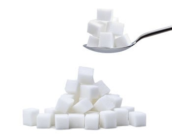 Refined cube sugar — Stock Photo