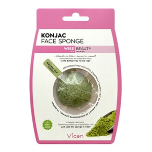 Vican konjac sponge with green tea