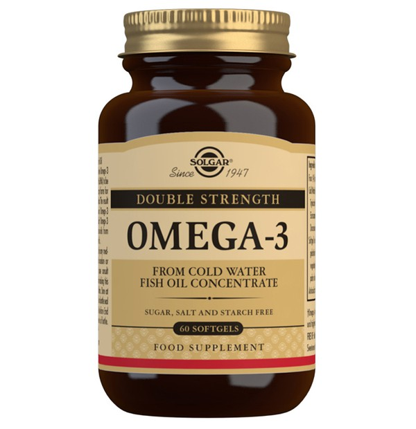 SOLGAR OMEGA 3 DOUBLE STRENGTH SOFTGELS 60S
