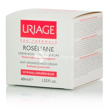 Uriage Roseliane Creme Riche Anti Rougeurs - Ερυθρότητα, 40ml
